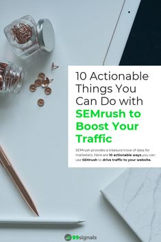 SEMrush provides a treasure trove of data for marketers. Here are 10 actionable ways you can use SEMrush to drive traffic to your website. Growth Hacking, Productivity Hacks, Search Engine Optimization, You Can Do, Content Marketing, Fisher, Seo, Platform, Posts