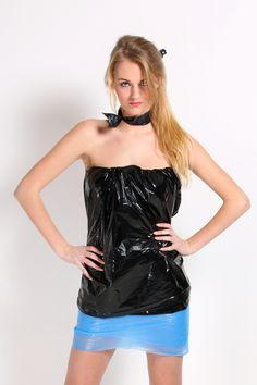 Mode met vuilniszakken