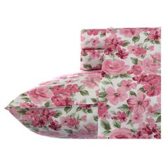 Showcasing a bold floral motif, this sheet set adds a pop of pattern to your master suite or spare room.   Product: Quee...