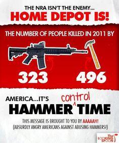 Let's ban hammers or Home Depot. Home Depot, Frugal, Gun Humor, Gun Meme, Gun Quotes, Cowboy Quotes, Life Quotes, Pro Gun, Gun Rights