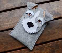Schnauzer phone Case Dog Felt Case Cell Phone by LayonStore