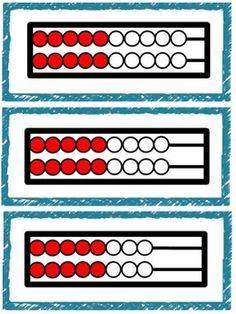 Doubles Rekenrek Cards free tpt