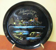 Vintage Souvenir Plastric Serving Tray Atlantic City New Jersey