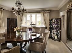 DAVIDSON London - The Chatfield Table and Brunswick Chair  Interior Design by Janet Cowan