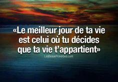 Il giorno migliore della tua vita è quello in cui decidi che la vita ti appartiene #vita #amore #edarlingitalia
