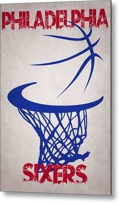 Sixers Metal Print featuring the photograph Philadelphia Sixers Hoop by Joe Hamilton