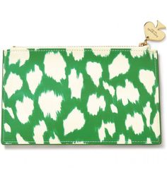 Kate Spade Painterly Cheetah Pencil Pouch