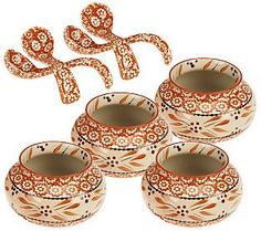 Temp-tations Old World 8-piece Soup Bowl & Spoon Set