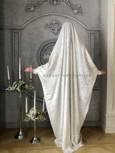 White velvet Khimar, muslim dress, Transformer jilbab nikab, traditional ready to wear hijab, prayer Dress, islamic Burqa