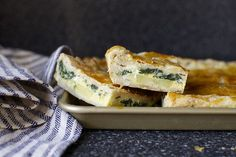 slab pie with eggs, potato and spinach by smitten, via Flickr