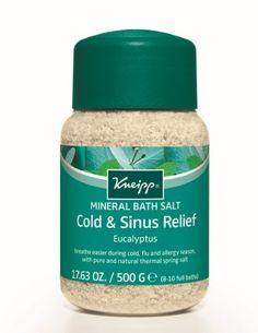 Kneipp COLD & FLU MINERAL BATH SALT Breathe Easier EUCALYPTUS 500g