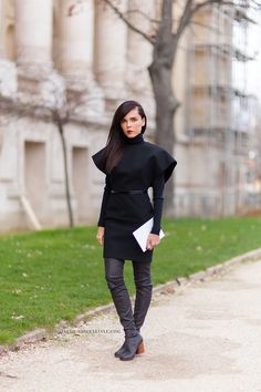 #PFW Evangelie Smyrniotaki. Street Style at Paris Fashion Week, RTW Fall 2014. Photo: Athens Streetstyle