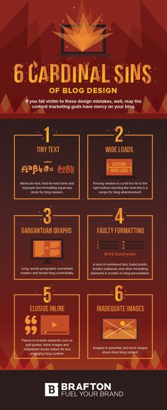 Ugly as Sin: The 6 Cardinal Sins of Blog Design #Infographic