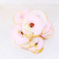 Pink and gold donuts? Yes, please!