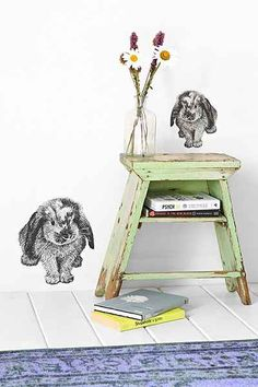Plum & Bow Bunny Wall Decal - Urban Outfitters