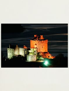 'Eilean Donan Castle , Scotland' Photographic Print by David Rankin Eilean Donan, Scotland Castles, Create Image, Scottish Highlands, Free Stickers, Print Design, Texture, Artist, Prints