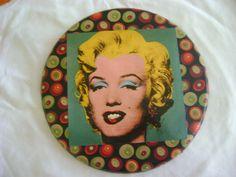 Quadrinho Marilyn Monroe, com colagem de recorte e tecido!
