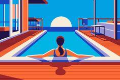 Illustrazioni Viaggi | Una collezione di illustrazioni vive e colorate che suscitano il desiderio di viaggiare per il mondo alla scoperta di luoghi incantevoli