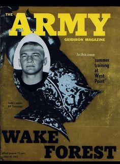 1963 Army vs Wake Forest College Football Program | eBay