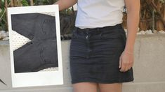 Comment recycler son jean troué en jupe ! (astuce zéro déchet à tester absolument)) Diy Vetement, Recycle Jeans, Jean Skirt, Cool Girl, Leather Skirt, High Waisted Skirt, Skirts, Outfits, Scrappy Quilts