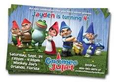 53 Best Gnomeo and Juliet party ideas images   Party ...