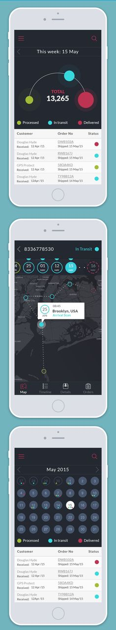 Tracking App UI Design by Daria