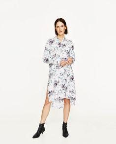 ZARA - WOMAN - PRINTED SHIRT DRESS