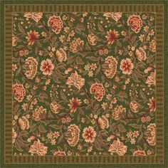 """Milliken Pastiche Vachell Deep Olive Area Rug Rug Size: Oval 3'10"""" x 5'4"""""""