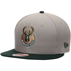 Milwaukee Bucks New Era Team 9FIFTY Snapback Adjustable Hat - Gray - $29.99