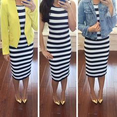 Striped Midi Dress for $22 - details here:  http://www.stylishpetite.com/2014/03/fitting-room-h-new-arrivals-and.html