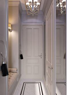Interior Design Renderings, Home Room Design, Apartment Interior Design, House Design, Small Hallways, Loft Interiors, Luxury Dining Room, Ceiling Decor, Small Apartments