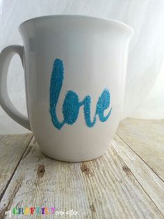 Personalized Glitter Coffee Mugs - Easy Gift Series