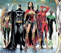 The Justice League Arte Dc Comics, Dc Comics Superheroes, Dc Comics Characters, Justice League Marvel, Marvel Dc, Univers Dc, Comics Universe, Dc Heroes, Comic Books Art