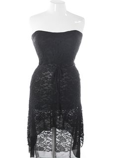 Plus Size See Through Knit Dip Hem Black Dress, Plus Size Clothing, Club Wear, Dresses, Tops, Sexy Trendy Plus Size Women Clothes