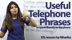 Useful Telephone Phrases - Free English lesson to speak English fluently...