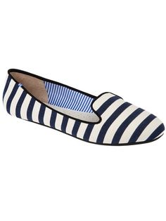 white/blue stripes loafers by Charles Philip