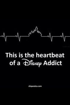 The heartbeat of a Disney Addict...I love disney world! One of my top places to be!!! <3 can't wait to go again next year!!!