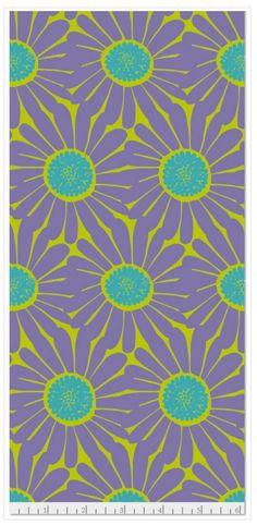 "Daisy Chartreuse Muslin 45"" Print"