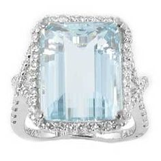 Aquamarine & Diamond Ring. Excuse me while I whip this out!