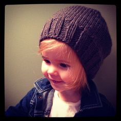 Charcoal grey slouch hat 12-24 mo