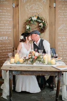 Nashville Wedding from Kristyn Hogan + Cedarwood Weddings - Style Me Pretty Brunch Wedding, Chic Wedding, Wedding Table, Rustic Wedding, Dream Wedding, Sweet Heart Table Wedding, Fall Wedding, Private Wedding, Wedding Reception