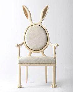 cute bunny #chairs {Merve Kahraman}