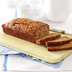 Banana-Zucchini Bread Recipe -My grandmother made this bread for as long as I can remember, and I've been making it ever since I learned how to bake. Children love it for a snack, and it's good to serve at any meal. It's another delicious way to use zucchini, which is so abundant in late summer. —Eva Mae Hebert, Lafayette, LA