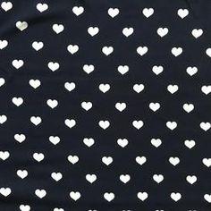 Viscose Navy Hearts - BUY online at www.cottonreelstudio.co.uk