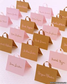 bag place cards