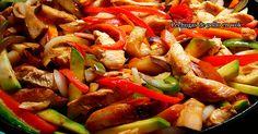 Pechugas de pollo en wok