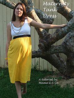 Maternity Tank Dress by MamaGwenn1, via Flickr