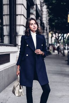 women's fashion and style. coats. navy peacoat