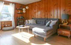7 Wood Paneling Makeover Ideas: Groovy in a Whole New Way - Home Bigger Knotty Pine Decor, Knotty Pine Paneling, Knotty Pine Walls, Knotty Pine Living Room, Knotty Pine Kitchen, Wood Paneling Decor, Wood Panneling, Paint Paneling, Wood Paneling Makeover