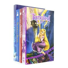 Disney Cinestory Comic Collection 4 Book Set (Tangled,Snow Whiite, Beauty and the Beast, Frozen)
